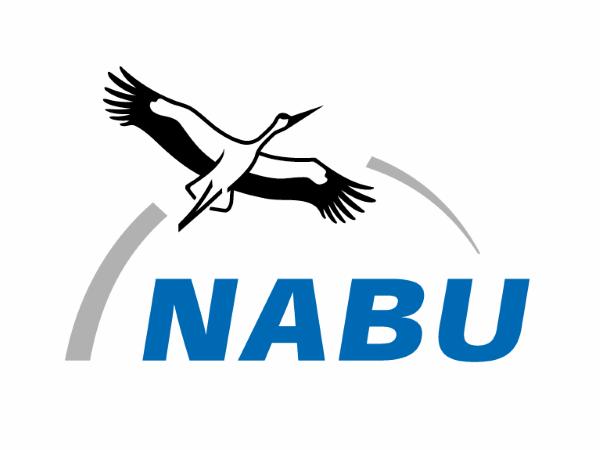 NABU Logo mit Weißstorch